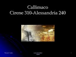 Callimaco - Liceo Classico Dettori