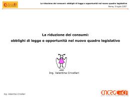 obblighi di legge e opportunità nel nuovo quadro legislativo.