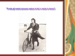 le donne possono andare in bicicletta