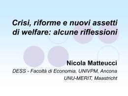 alcune riflessioni Dott. Nicola Matteucci