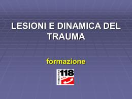 le diverse lesioni traumatiche
