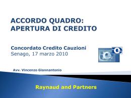 accordo quadro - Concordato Cauzione Credito