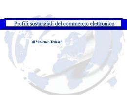 Profili sostanziali del commercio elettronico