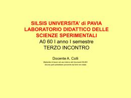 mappe concettuali - Università degli Studi di Pavia
