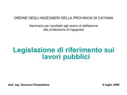 progettazione - Ordine degli Ingegneri della Provincia di Catania