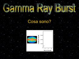 Presentazione sui lampi gamma (file PPT necessita di