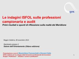 Franceschetti _Gallo_Indagini professioni_Meridione