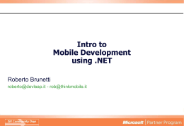 Intro to Mobile Development using .NET