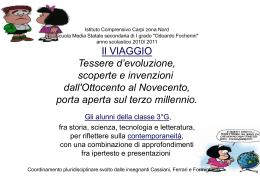 anno scolastico 2010/ 2011 Il VIAGGIO Tessere d`evoluzione