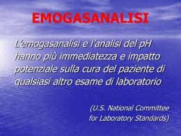 EMOGASANALISI - Azienda ospedaliera S.Camillo