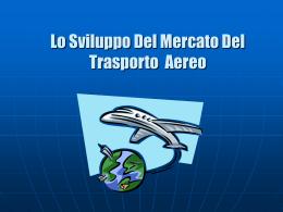 Sviluppo del mercato del trasporto aereo