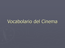 Vocabolario del Cinema
