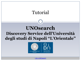 - SiBAblog - Università degli studi di Napoli L`Orientale