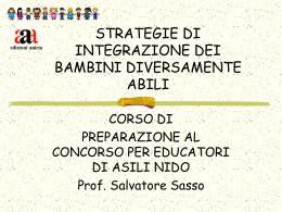 Strategie di integrazione dei bambini diversamente abili