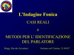 L`Indagine Fonica - Associazione Italiana di Scienze della Voce