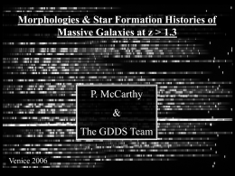 Morphologies and star formation histories of massive galaxies at z > 1