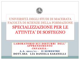 dsa e lateralita - Università degli Studi di Macerata