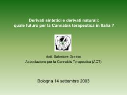 Derivati sintetici e derivati naturali