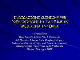 Franceschini - ASL n. 4 Chiavarese