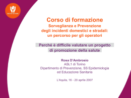 Interventi efficaci, incidenti domestici (ppt 174 kb)