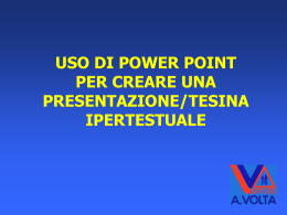 uso di power point per creare una presentazione ipertestuale