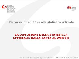 La diffusione della statistica ufficiale: dalla carta al web 2.0