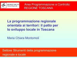 il patto per lo sviluppo locale in Toscana