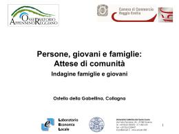 Persone, giovani e famiglie - Osservatorio economico, coesione