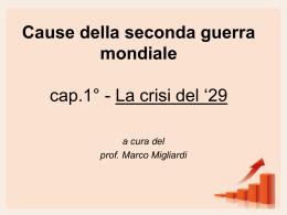 La crisi del 29 - Liceo Scientifico Mariano IV d`Arborea Oristano