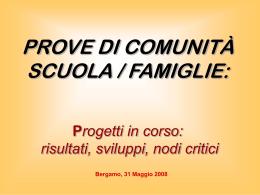Scuola & famiglie: prove di comunità
