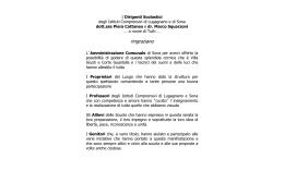scarica il programma - ISTITUTO COMPRENSIVO STATALE DI