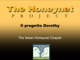 The Dorothy Project - The Italian Honeynet Project