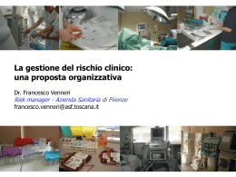 La gestione del rischio clinico >> specifiche software