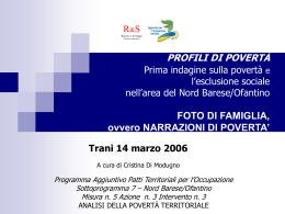 slide analisi qualitativa - Agenzia per l`inclusione sociale