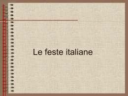 Le Feste italiane (PowerPoint Präsentation)