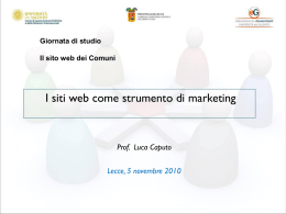 Luca Caputo - I siti web come strumento di marketing