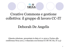 NEXA-27_11_2010 - Creative Commons Italia