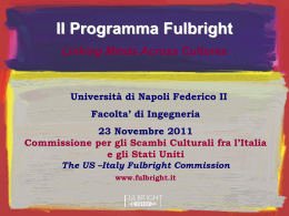 Presentazione Fulbright