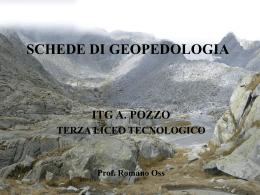 schede di geopedologia - Istituto Tecnico Tecnologico Andrea Pozzo