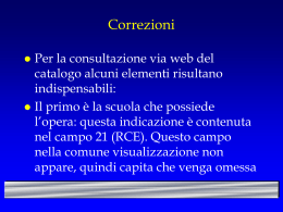 CCCBS - Controlli ISIS - (file ppt)