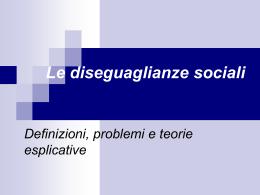 stratificazione e classi sociali