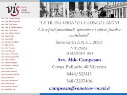 Presentazione ANCL rinunzie e transazioni 2014