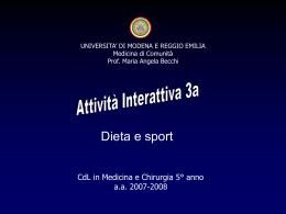 Attività interattiva 3 - Facoltà di Medicina e Chirurgia