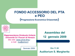 visualizza le slide - Università Ca` Foscari di Venezia