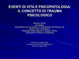 il trauma psicologico - dott. Antonio Onofri | Medico Chirurgo