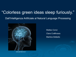 Presentazione del wiki - Colorless green ideas sleep furiously.
