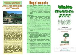 Programma 2009 - Associazione Progetto Uomo Ambiente
