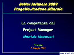 Competenze PM - Better Software 2015