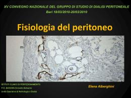 Fisiologia del peritoneo Elena ALBERGHINI