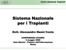 Conferenza stampa del 5 maggio 2005